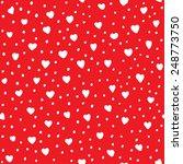heart shape vector seamless... | Shutterstock .eps vector #248773750