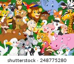 Stock vector cartoon animals background 248775280