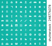 100 architecture icons  white... | Shutterstock . vector #248776378