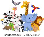 cartoon wild animals background | Shutterstock .eps vector #248776510