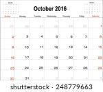 vector planning calendar ... | Shutterstock .eps vector #248779663