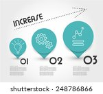 turquoise increase infographic. ... | Shutterstock .eps vector #248786866