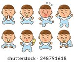 expression of the face of the... | Shutterstock . vector #248791618