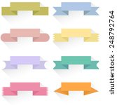 modern colored ribbons and... | Shutterstock .eps vector #248792764