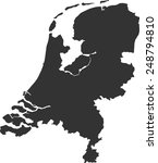 map of the netherlands  | Shutterstock .eps vector #248794810