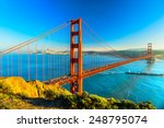 Stock photo golden gate bridge san francisco california usa 248795074