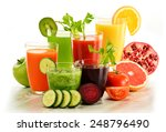 glasses with fresh organic... | Shutterstock . vector #248796490