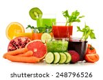 glasses with fresh organic... | Shutterstock . vector #248796526