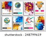 set of flyer design  web... | Shutterstock .eps vector #248799619