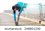 sportsman doing stretching in...   Shutterstock . vector #248801230