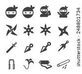 ninja icon | Shutterstock .eps vector #248801734