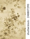 Vintage Rose Fabric Background