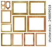 old antique gold frame isolated ... | Shutterstock . vector #248809018