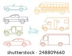 transportation and automotive... | Shutterstock .eps vector #248809660