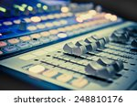 sound music mixer control panel | Shutterstock . vector #248810176