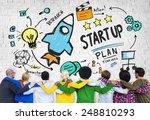 start up business launch... | Shutterstock . vector #248810293