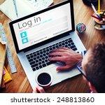 business man account login... | Shutterstock . vector #248813860