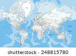 high detailed world road map... | Shutterstock .eps vector #248815780
