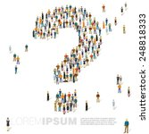 people crowd question mark... | Shutterstock .eps vector #248818333