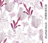 flowers  vector seamless pattern | Shutterstock .eps vector #248818528