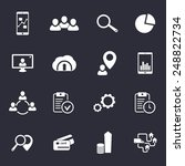 16 business flat icons vector...