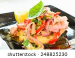 mixed chicken salad starter | Shutterstock . vector #248825230