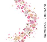 pink roses  petals and... | Shutterstock . vector #248826673