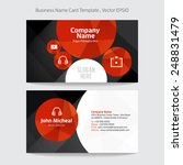 business name card abstract... | Shutterstock .eps vector #248831479