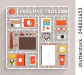 vector flat design model kits... | Shutterstock .eps vector #248831653