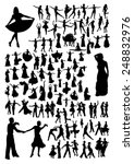 dancing silhouettes set | Shutterstock .eps vector #248832976