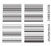 simple zigzag  wavy underlines... | Shutterstock .eps vector #248834338