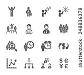 finance and human resource icon ... | Shutterstock .eps vector #248836378