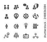 human resource management icon... | Shutterstock .eps vector #248836384
