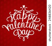 happy valentines day... | Shutterstock .eps vector #248836420
