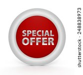 special offer circular icon on... | Shutterstock . vector #248838973