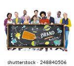 diverse people banner marketing ... | Shutterstock . vector #248840506