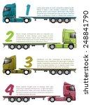 truck infographics design with... | Shutterstock .eps vector #248841790