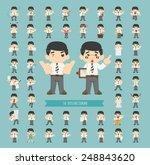 set of businessman character  ... | Shutterstock .eps vector #248843620