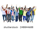 diversity casual team cheerful... | Shutterstock . vector #248844688