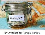 wanderlust travel jar  ... | Shutterstock . vector #248845498