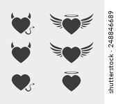 vector heart love icon symbol... | Shutterstock .eps vector #248846689