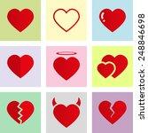 vector love heart symbol icon...   Shutterstock .eps vector #248846698