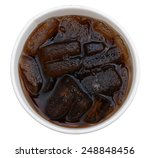 a top view of soda cup | Shutterstock . vector #248848456