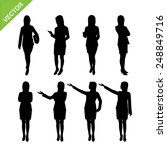 business woman silhouettes... | Shutterstock .eps vector #248849716