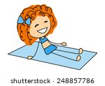 cute little girl sunbathing on... | Shutterstock . vector #248857786
