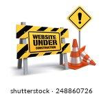 website under construction sign ...   Shutterstock .eps vector #248860726