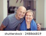 fit affectionate elderly couple ... | Shutterstock . vector #248866819