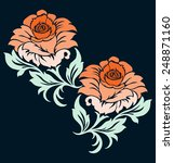 rose motif flower design... | Shutterstock .eps vector #248871160