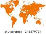 world map vector | Shutterstock .eps vector #248879734