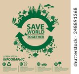 ecology concept. save world... | Shutterstock .eps vector #248891368
